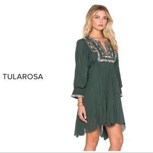 Tularosa Green Boho Dress